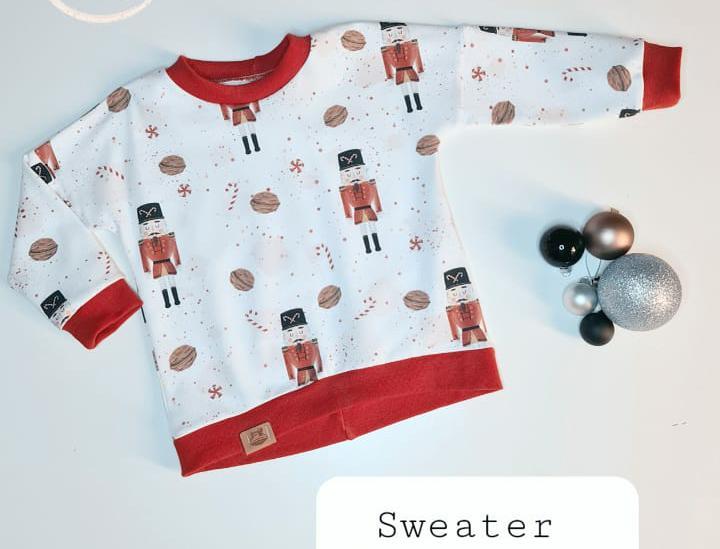 sweater mit nähmaschine genäht